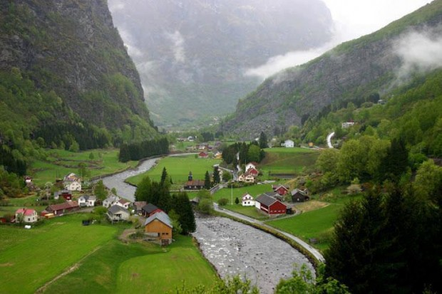 Flam Valley Norway