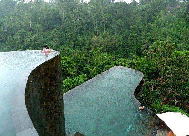 Infinity pools at Ubud Bali