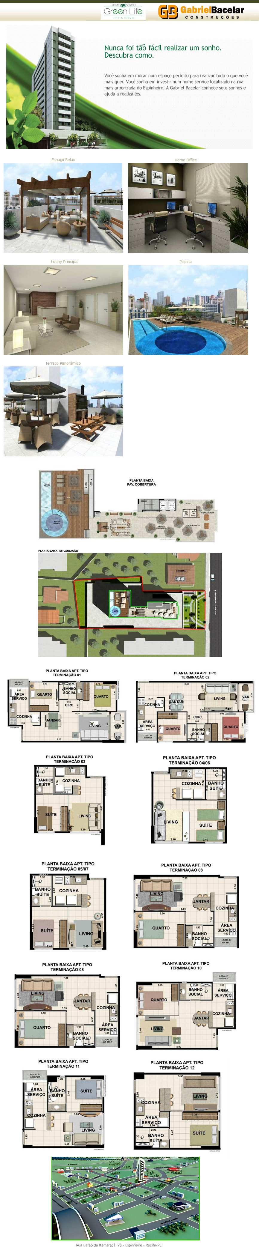 Apartamentos no bairro de Espinheiro 1 ou 2 quartos em Recife PE