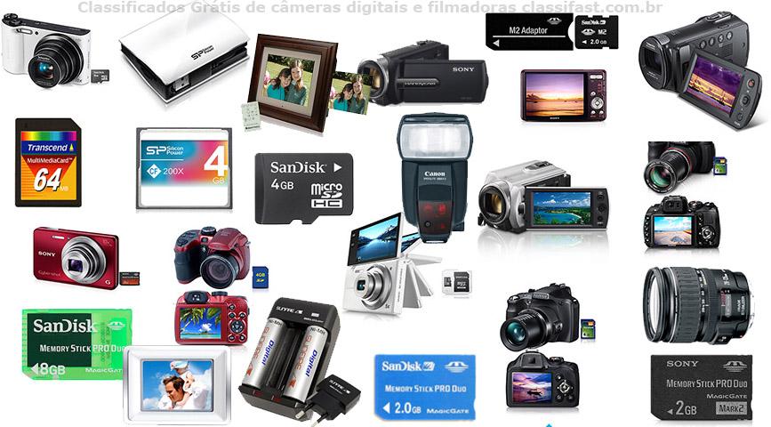 Classificados grátis de cameras digitais e filmadoras