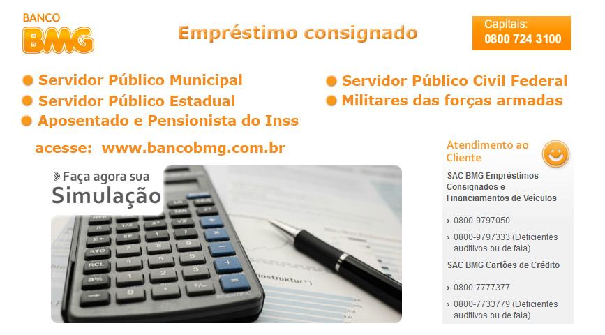 Empréstimo consignado banco Bmg